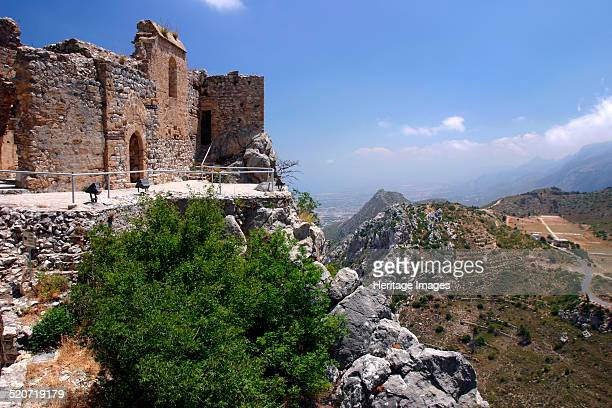 St Hilarion Castle, North Cyprus. Dating from the 10th century, St Hilarion Castle stands on top of a peak in the Kyrenia mountain range in northern...