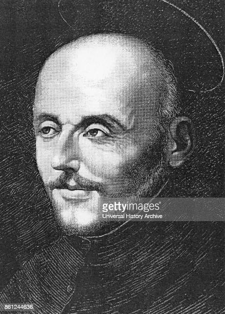 St Ignatius Loyola 14911556 Spanish aristocrat and soldier In 1534 with St Francis Xavier and others founded SOCIETY OF JESUS Engraving after the...