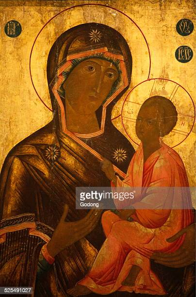St Issac s cathedral Wonderworking Tikhvin Icon of the Theotokos Virgin Mary and Jesus