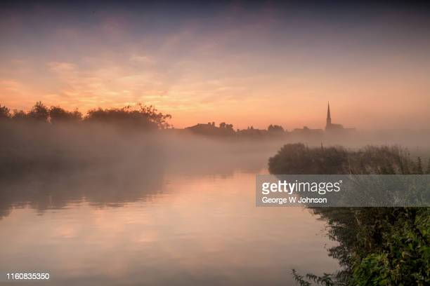 st ives at dawn iv - cambridge cambridgeshire imagens e fotografias de stock