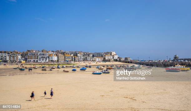 St Ives harbour at low tide, Cornwall