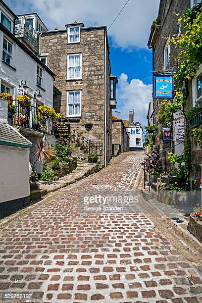 st ives street, cornwall - st. ives cornwall stock pictures, royalty-free photos & images