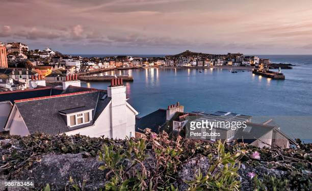 st ives sunrise - st ives stock pictures, royalty-free photos & images