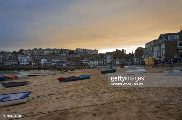 st. ives sunset - st ives stock pictures, royalty-free photos & images