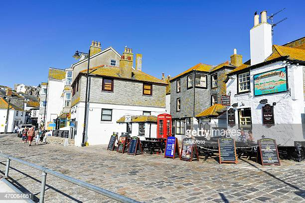st. ives town in cornwall, uk - st. ives cornwall stock pictures, royalty-free photos & images