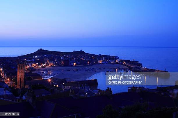 st. ives's harbor, state of cornwall, britain, uk - st ives stock pictures, royalty-free photos & images
