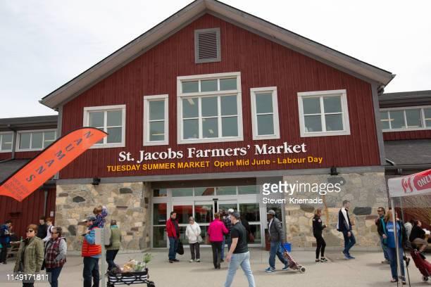 marché fermier st. jacobs-kitchener-waterloo - ontario canada photos et images de collection