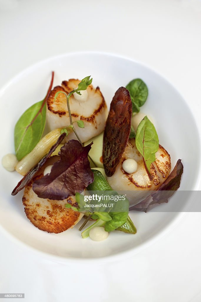 St. Jacques scallops : Stock Photo
