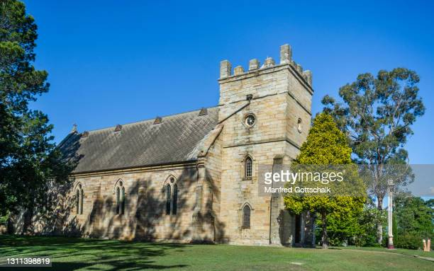 st james' anglican church in morpeth, hunter region, new south wales, australia, september 5, 2018 - morpeth stock pictures, royalty-free photos & images