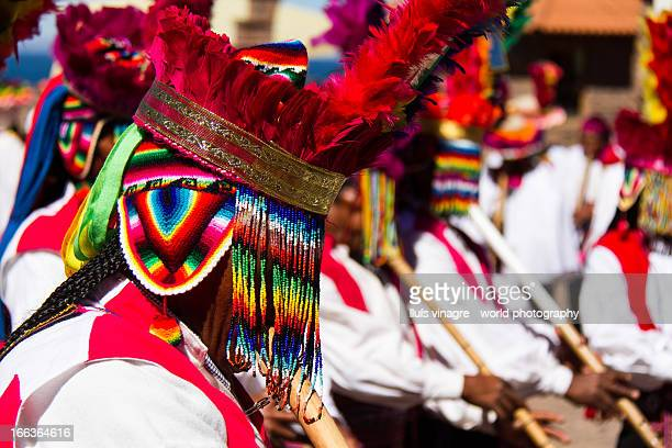 St James festival in Taquile Island, Titicaca Lake