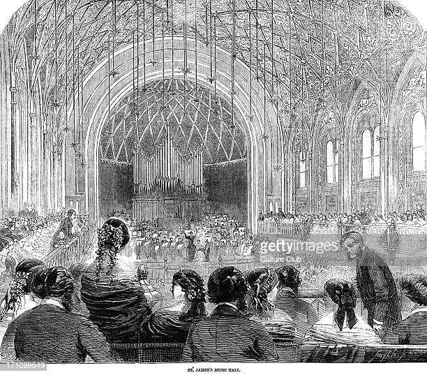 St James' Hall London in the 19th century concert Illustrated London News 10 April 1858