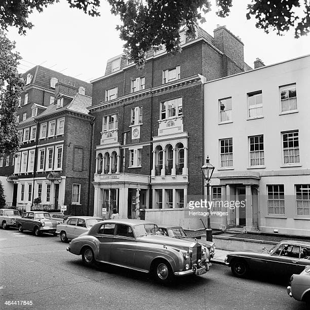 St James House 13 Kensington Square London 19691979 A Rolls Royce driving in front of St James House with number 14 in the foreground
