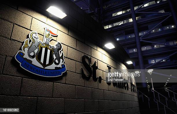 St James' Park before the UEFA Europa League Round of 32 first leg match between Newcastle United and FC Metalist Kharkiv at St James' Park on...