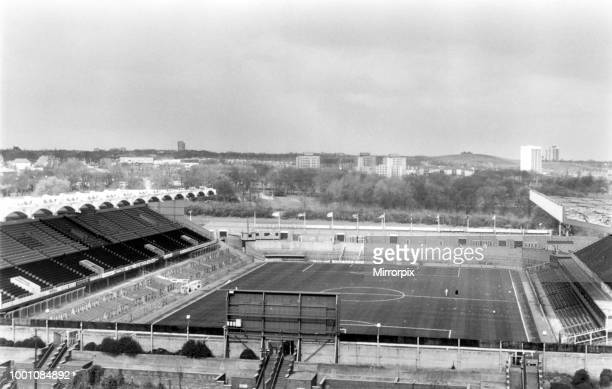 St James' Park football stadium in Newcastle upon Tyne, the home of Newcastle United FC, 4th April 1989.