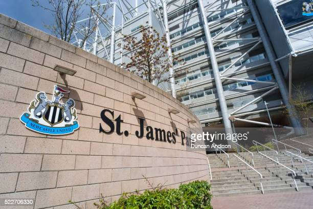 st james park, home of newcastle united - st. james' park newcastle upon tyne stock pictures, royalty-free photos & images