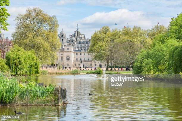 st james park lake, london - buckingham palace stock pictures, royalty-free photos & images