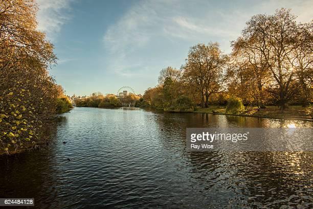 St James Park Lake towards London Eye
