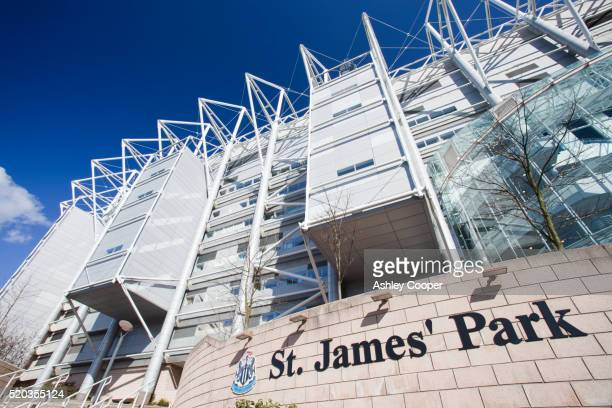 st james park, the home of newcastle united football club, newcastle, uk. - st. james' park newcastle upon tyne stock pictures, royalty-free photos & images