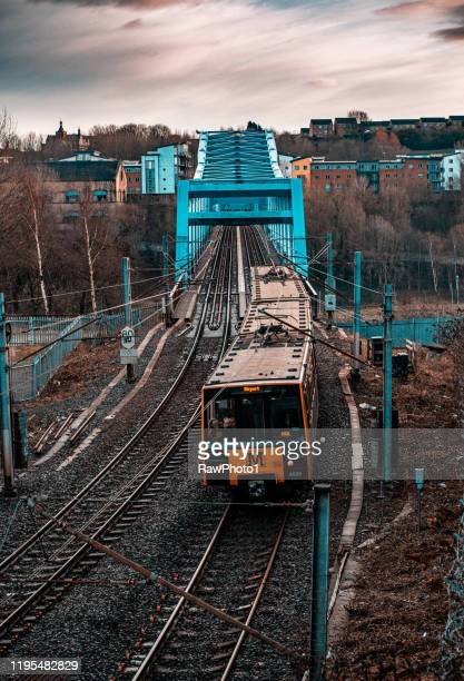 st james's metro underground train - tyne and wear stock pictures, royalty-free photos & images