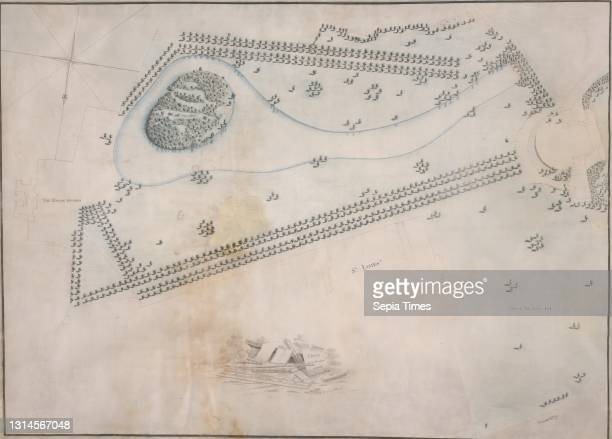 St. James's Park, London: Plan, Lancelot Brown, 1716–1783, British Pen and black and brown ink, watercolor on moderately thick, smooth, cream vellum,...