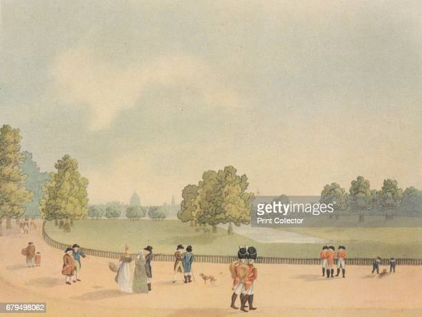 St James's Park Westminster London 1809 View of the Horse Guards from Buckingham House From Vintage London by John Betjeman [William Collins 1942]...