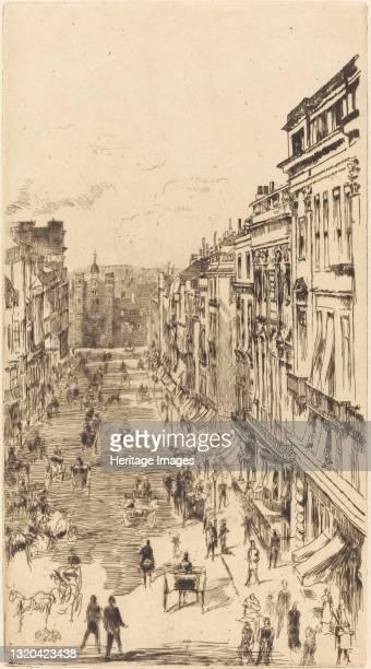 St James's Street, 1878. Artist James Abbott McNeill Whistler.