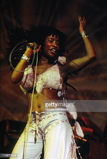 Chaka Khan from Rufus performs live on stage in Amstelveen Netherlands in 1976
