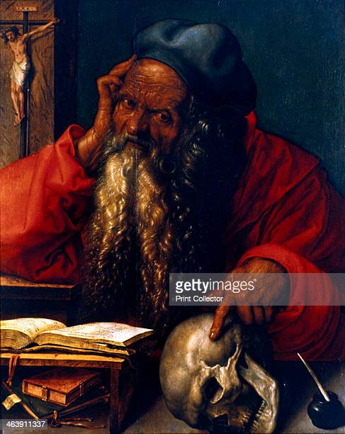 St Jerome 1521 From the Museu Nacional de Arte Antiga Lisbon Portugal