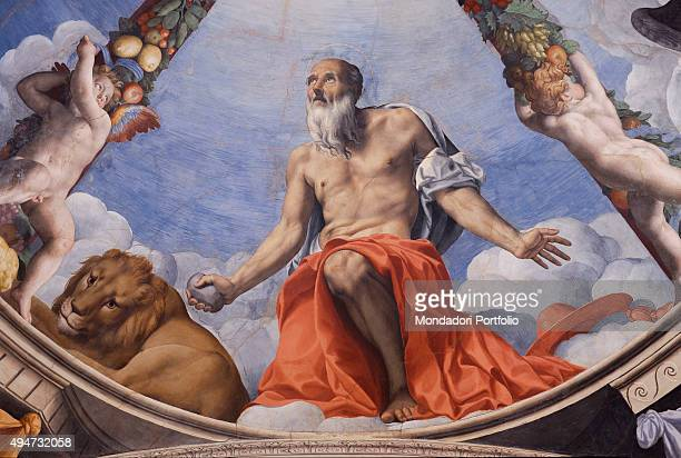 St Jerome by Bronzino 15401545 16th Century fresco Italy Tuscany Florence Palazzo Vecchio Chapel of Eleonora Detail A particular of the fresco on the...
