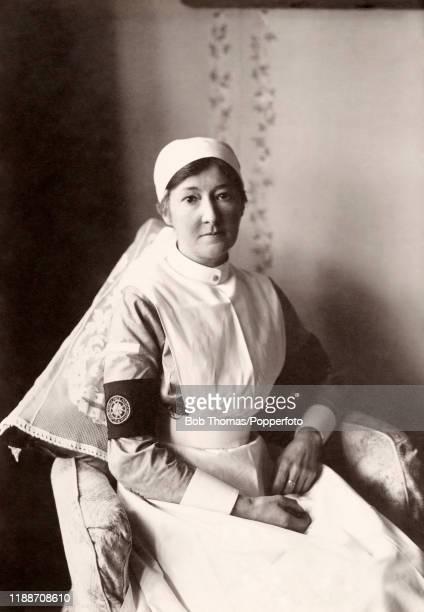 St John Ambulance Association nurse during World War One, circa 1915.