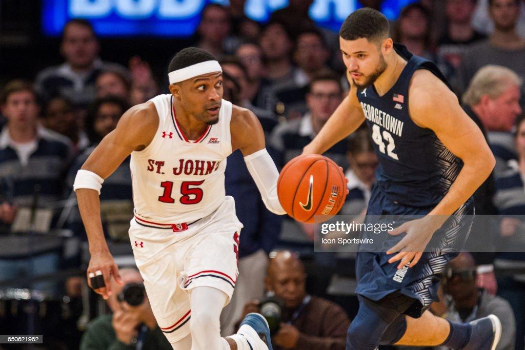 COLLEGE BASKETBALL: MAR 08 Big East Tournament - Georgetown v St. John's : News Photo