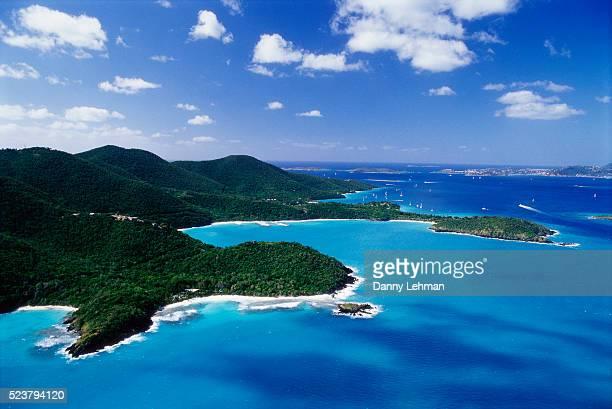 st. john island and caribbean sea - paisajes de st johns fotografías e imágenes de stock