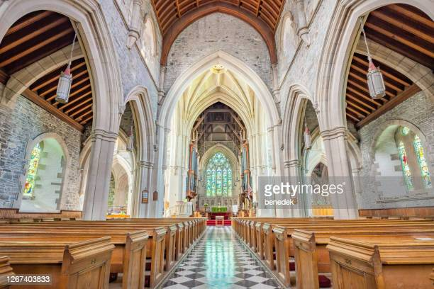 st john the baptist anglican cathedral st john's newfoundland canada - nave stock pictures, royalty-free photos & images