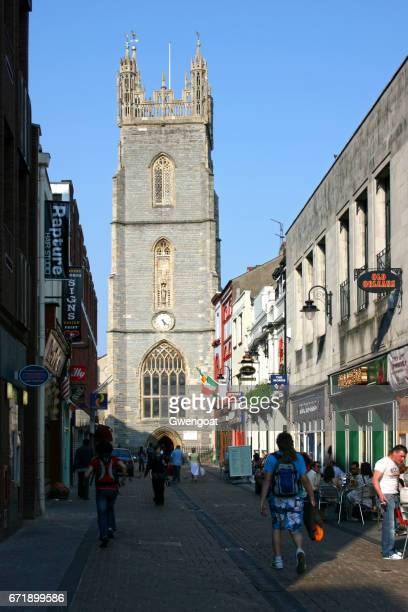 st john the baptist church in cardiff - john the baptist stock photos and pictures