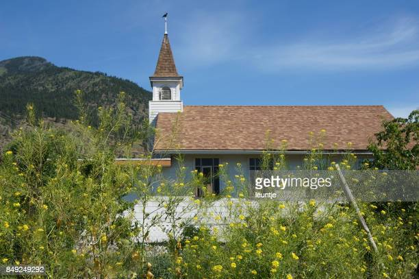 st. john the baptist - church in lillooet - john the baptist stock photos and pictures