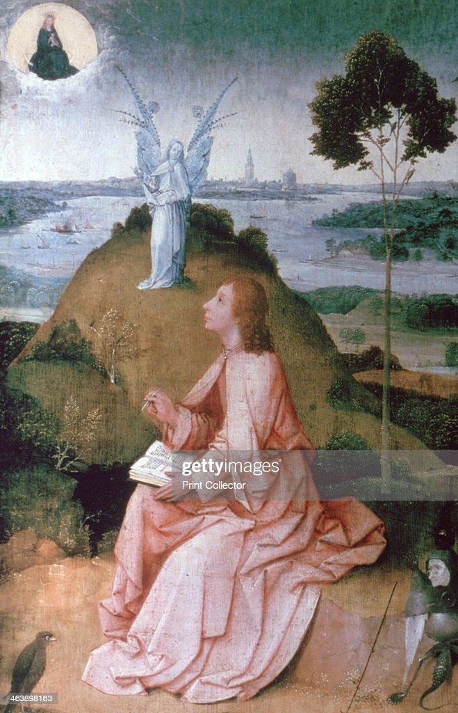 'St John the Evangelist on Patmos', 1504-1505. Artist: Hieronymus Bosch : News Photo