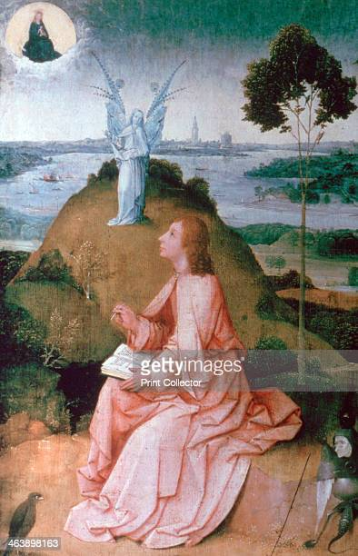 'St John the Evangelist on Patmos' 15041505 According to the Bible St John witnessed and recorded a vision sent by Jesus whilst in exile on the Greek...