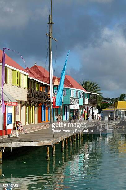 st. johns, antigua, leeward islands, west indies, caribbean, central america - antigua & barbuda stock pictures, royalty-free photos & images