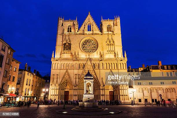 st. john's cathedral in lyon - valletta stock pictures, royalty-free photos & images