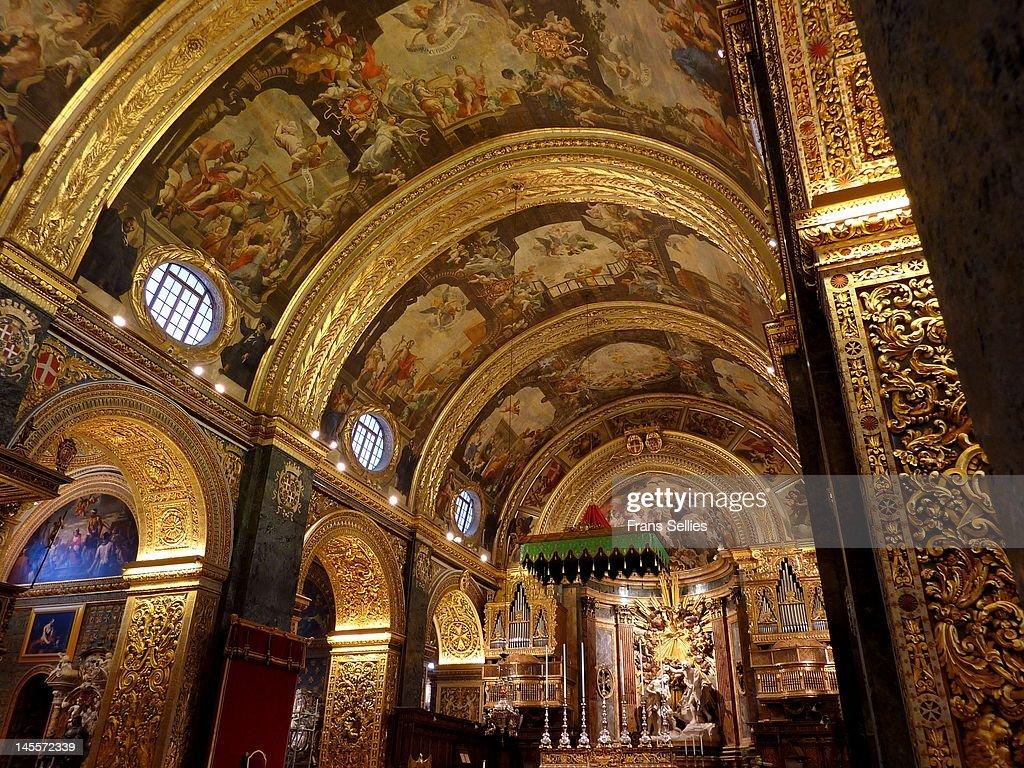St. John's Cathedral in Valletta : ストックフォト