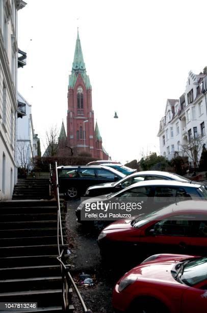 st john's church, bergen, norway - feifei cui paoluzzo stock pictures, royalty-free photos & images