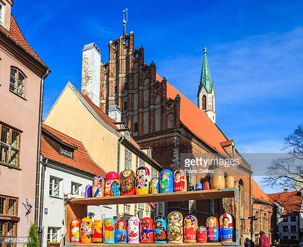 CONTENT] St John's Church is a Lutheran church in Riga the capital of Latvia Many tourists will pass here and this Matryoshka seller hopes for clients
