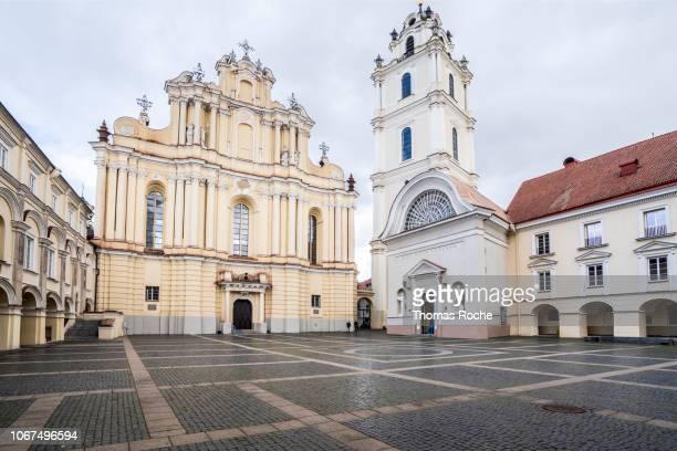 st johns church, vilnius, lithuania - lituania fotografías e imágenes de stock