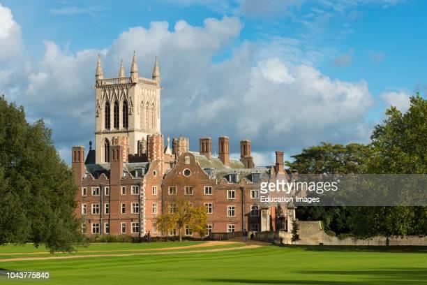 St Johns College and chapel, Cambridge University, England.