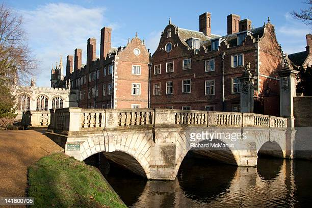 st johns college in cambridge - cambridge cambridgeshire imagens e fotografias de stock