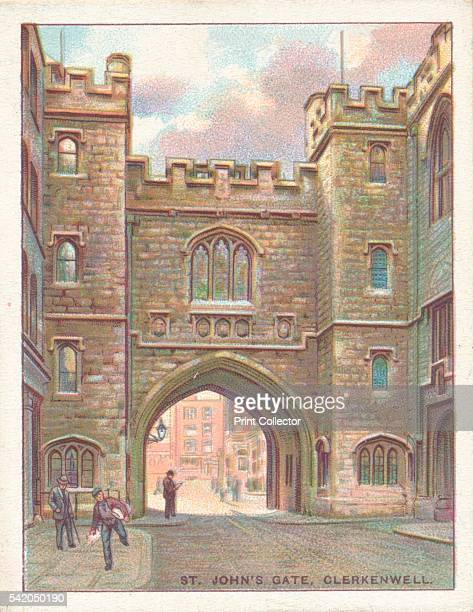 St John's Gate, Clerkenwell', 1929. From Old London, A Series of 25 Wills's Cigarettes cards. [W.D. & H.O. Wills, London, 1929] Artist: Unknown.