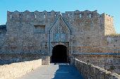 rhodes towns city walls were built
