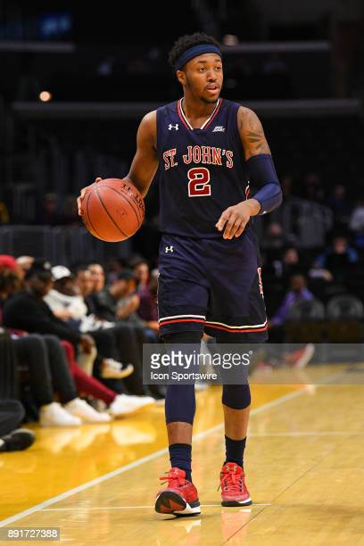 St John's guard Shamorie Ponds sets up the offense during an college basketball game between the St John's Red Storm and the Arizona State Sun Devils...