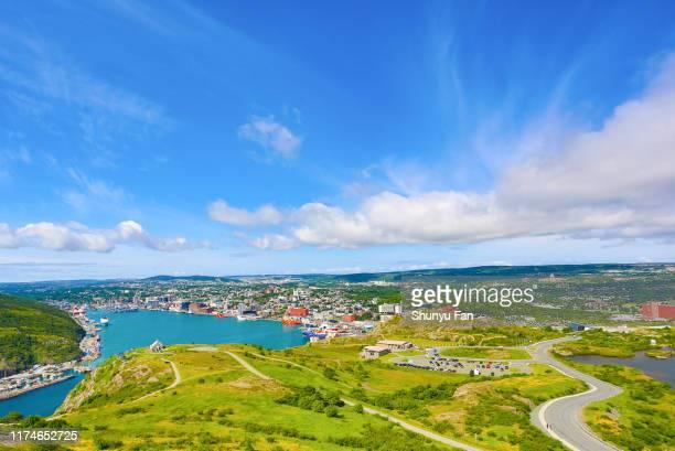 st. john's harbor - paisajes de st johns fotografías e imágenes de stock
