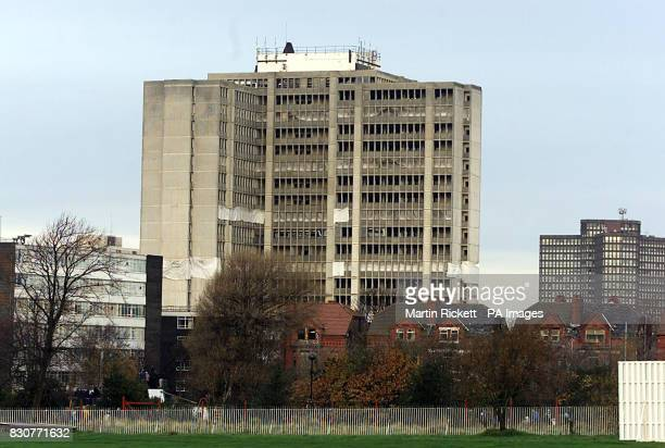 St John's House the former Inland Revenue 19storey tower block in Bootle Merseyside just before the building is demolished by a controlled explosion...